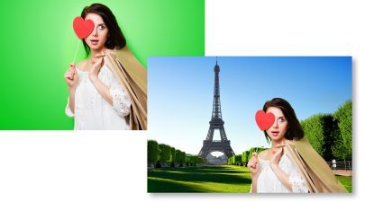 Personnalisation de fond photobooth
